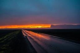 Ceļā no ledāja caur Vík uz Reikjavík
